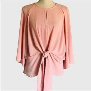 Bcbg Max azria tie front pink blouse